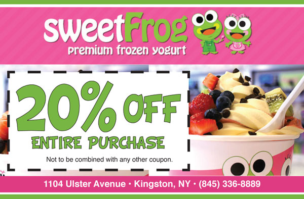 Sweet frog coupons november